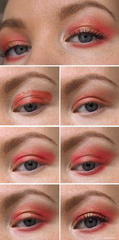 warm red eye makeup tutorial #warmred #eyemakeup #tutorial #beautyblog #eyeshadow