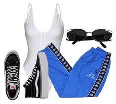 A fashion look from October 2017 featuring track pants and vans shoes. Browse and shop related looks. Chill Outfits, Cute Casual Outfits, Dope Outfits, Retro Outfits, Stylish Outfits, Teen Fashion Outfits, Look Fashion, Outfits For Teens, Teenager Outfits