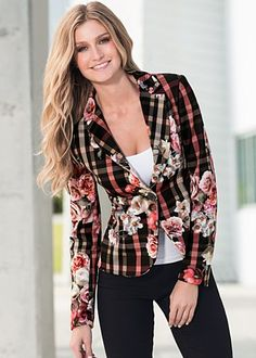 Plaid and floral blazer, $46. I couldn't pull this off, but I think it's great!