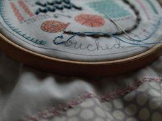 Sarah's in progress Couching sampler Couching Stitch, Brooklyn Tweed, Stitches, Vans, Retro, Sneakers, Dots, Sneaker, Van