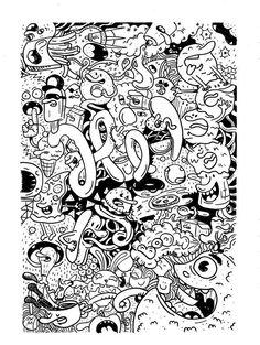 Food doodles by Misael Méndez