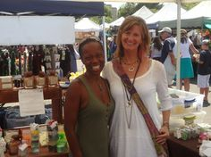 Robin with Joy Blessman from INTENTIONS at Vista Farmers Market