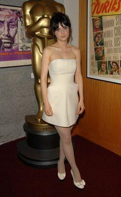 Zooey Deschanel in a white strapless dress ♥ WWZDW? What Would Zooey Deschanel Wear?