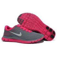 Billig ny 2013 Dame Nike Free 4.0 V2 Grå Rosa