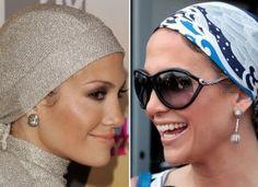 jennifer lopez wearing head scarf
