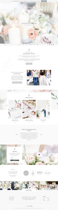 Logo Design, Stationery Design, and Web Design for Jessica Dum Wedding Coordination | With Grace and Gold | Branding and Web Design for Creative Women in Business #logo #logos #design #designs #designer #idea #inspiration #web #website #websites #feminine #classic #pretty #professional #polished #inviting #welcoming #fun #interesting #fresh #new