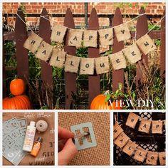 Halloween Banner DIY by www.trinketsinbloom.com #HalloweenMP