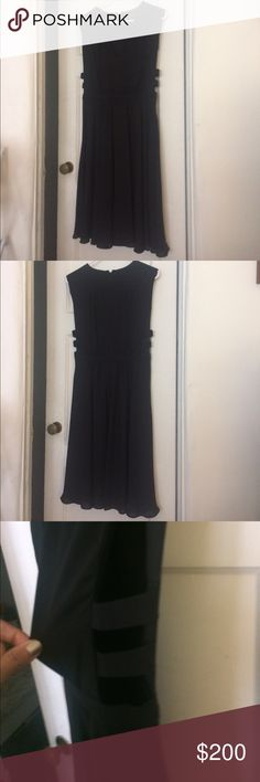 """BCBG MAXAZRIA Rachel Dress • Like new  • Lined • Fits like a Size 4 • Peek-a-boo side details  • 41"""" long from shoulder to hem: 16.5"""" from shoulder to waist, 24.5"""" from waist to hem • Letting go bc my style has changed   ** Firm price unless included in a bundle :) BCBGMaxAzria Dresses Midi"""