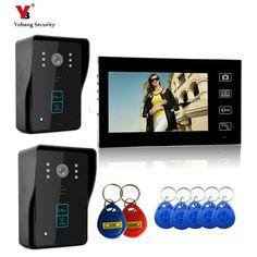 "205.00$  Buy here - ""Yobang Security 7"""" Wireless Video Door Phone Doorbell Intercom IR Camera Monitor RFID Card Reader Access Control Home Intercom ""  #bestbuy"
