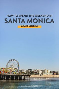 Looking for the best things to do in Santa Monica? These are the places and activities you should check out on your first visit // Local Adventurer #localadventurer #santamonicapier #visitcalifornia #california #santamonica Santa Monica State Beach, Santa Monica California, Santa Monica Mountains, Visit California, California Travel, Sequoia National Park, Joshua Tree National Park, Santa Monica Farmers Market, Long Beach Airport