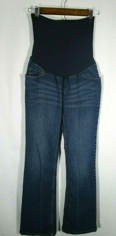 31b1892180437 Motherhood Maternity Women's Full Belly Panel Medium Wash Bootcut Jeans  Size M #fashion #clothing