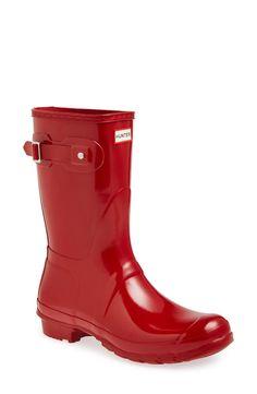 'Original Short' Gloss Rain Boot (Women)