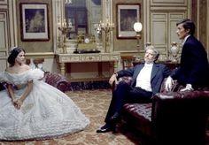 Claudia Cardinale, Burt Lancaster and Alain Delon in Luchino Visconti's The Leopard (1963)