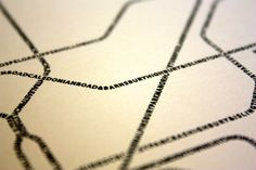 Typographic Transit Maps London - TRNSPRTNATION