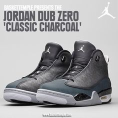 The Jordan Dub Zero makes a return for the 30th anniversary of the Jordan Brand. This colorway of the Dub Zero features laser printing on the Wolf Grey panel, along with Classic Charcoal and white. Get yours on February 21 on baskettemple.com  The Jordan Dub Zero is available in full family sizing.