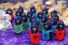 wooden peg and felt knight figurine toys | Castle of Costa Mesa