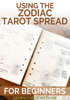 Learn how to read and use the 12-card Zodiac tarot spread from Learn Tarot With Me.