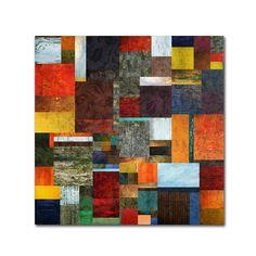 Trademark Fine Art Michelle Calkins \'Brocade Color Collage 2\' Canvas Art