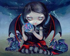 Dragonling goth Orbe demonio hadas arte oscuro por strangeling