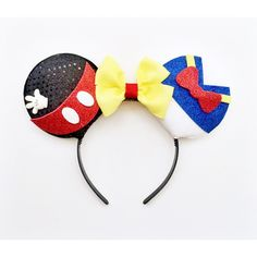 Mickey and Donald Ears, Mickey Mouse Ears, Donald Duck Ears, Mickey... (42 AUD) ❤ liked on Polyvore featuring accessories
