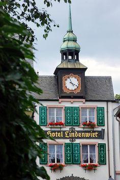 Hotel Clock Tower, Rodesheim, Germany