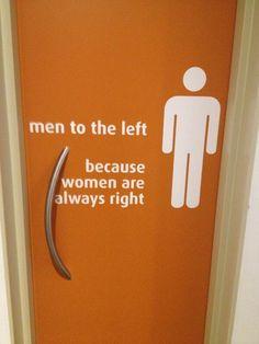 Vrouwen hebben altijd gelijk.