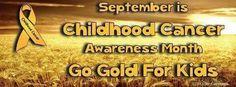 September - Childhood Cancer Awareness Month.
