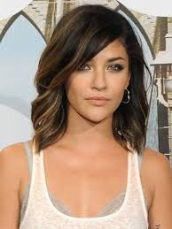 """Blunt """"lob"""" with a side bang that blends into the cut. @Erin B B B B B B B B B B B B B B Hanssen"""