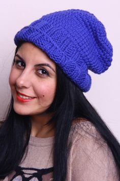 Blue Beanie Hat-Winter Beanie Hat-Women Hat-Slouchy Beanie Hat-Christmas-Gift-Crochet Winter Hat-Womens-Mans-Unısex by duduhandmade on Etsy