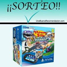 Consola - Sony - PS Vita Wi-Fi, Negra + Phineas & Ferb + Tarjeta de Memoria 8Gb