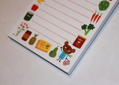 Magnetic Grocery Notepad by Kathleen Habbley by seamripper on Etsy, $7.00