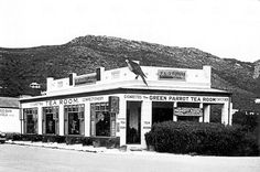 The Green Parrot Tea Room, Main Road, Fish Hoek Santoy Tea Room became The Green Parrot Tea Room demolished in 1964 The Green Parrot, House In Nature, Cape Town South Africa, African History, Old Photos, Landscape Photography, Places To Visit, City, Beach Buggy