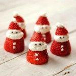 Prepara papá Noeles de fresa