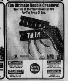 More Horror Movie Newspaper Ads! | Dinosaur Dracula!
