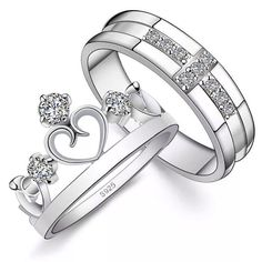 For the King and His queen; an alternative to the traditional wedding ring set.
