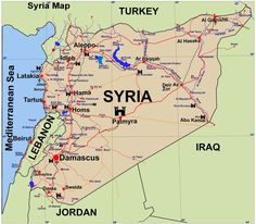 Major Cities in Syria.  Most of the current fighting is taking place around the major cities.  Although there are reports of fighting throughout the country