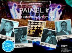 Painel #3 - As Indústrias Criativas - Congresso Nacional de Marketing. www.appmsnm.com