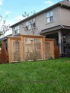 Hot Tub Lattice Privacy Fence Woodworking Projects Amp Plans