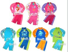 Free shipping Child swimwear UV Protection +50 Swimming Suit boy two pieces long sleeve hot spring swimwear Cartoon Rash Guards $30.30