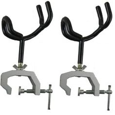 Ultimate Arms Gear 2 Pack of Heavy Duty Outdoor Fishing Pole Rod Holder with Universal Clamp-On Machined Aluminum Ship Boat Deck Dock Mount System with Rubber Dip Coated Claw Grip Handle Stand for Superior Wear Resistance & Weather Durability Ultimate Arms Gear
