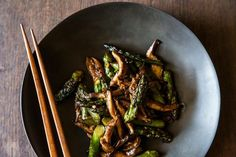 Oyster Sauce Glazed Asparagus and Mushrooms recipe on Food52