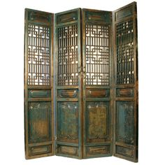 Antique Chinese Hand Carved Wooden Shanxi 4-Panel Doors | 1stdibs.com