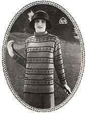 1920s Ladies Fair Isle sports pullover