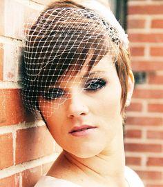 Hochzeit Schleier Bandeau Birdcage Veil russische von GildedShadows