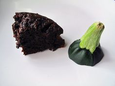 Chocolate zucchini cake with NO oil added, only applesauce. Thick and fudgy! #food #recipes #chocolate #dessert