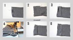 """Bündchen für Faule nähen - 1… Kleidungsstück auf rechts gewendet hinlegen 2… ca. 5 cm zurückklappen 3… jetzt davon die Hälfte wieder nach vorn klappen (hier habt nun den selben Effekt, als würdet ihr ein Bündchen annähen wollen) 4 und 5… an den offenen Seiten zusammen nähen 6… Bündchen umklappen und Fertig! Es ist keine neue Erfindung, aber ein nennenswerter Tipp, wie ich finde! Denn wer kein passendes Bündchen parat hat oder eben einfach """"zu faul"""" ist, macht es eben so. Und wer sich die…"""