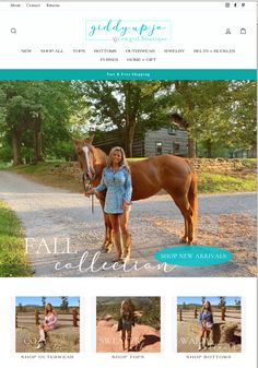 Meet Giddy Up Jo! Logo + Website by 2FriendsDesigns ** Contact Us | 541.654.4199 -we know boutiques! 2FriendsDesigns.com -
