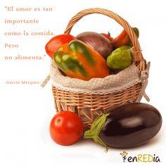 """""""El amor es tan importante como la comida, pero no alimenta."""" -García Márquez- #frasescélebres #notas #citas #quote #positivo #redessociales #communitymanager #socialmediamarketing #socialmedia #sm #marketing #enredia"""