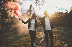 Awesome engagement photo session yesterday! Sunset, love, beautiful couple and smoke bombs of course ;D