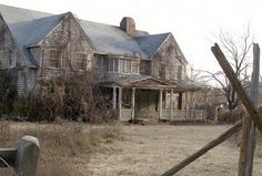 abandoned Grey Gardens home of Big Eddie and Little Edie Bouvier in East Hampton